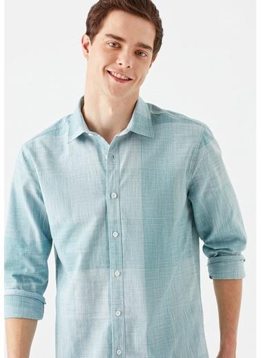 Mavi  Gömlek Yeşil